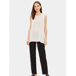 EILEEN FISHER System Stretch Crepe Straight Pant